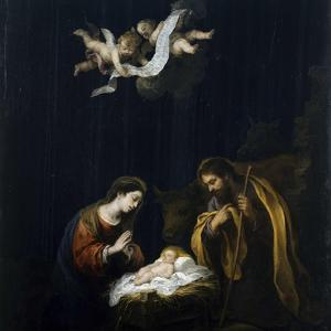 The Nativity, Ca 1668 by Bartolomé Estebàn Murillo