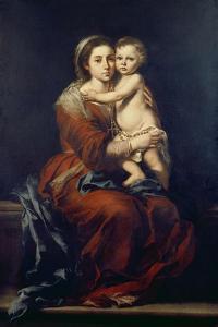 The Virgin of the Rosary, C. 1650-55 by Bartolomé Estéban Murillo