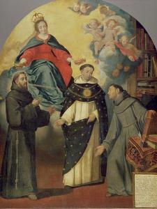 The Vision of Fray Lauterio, C.1640 by Bartolome Esteban Murillo