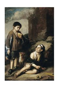 Two Peasant Boys and a Negro Boy, C.1670 by Bartolome Esteban Murillo