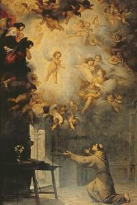 Vision of St. Anthony of Padua (1195-1231) by Bartolome Esteban Murillo