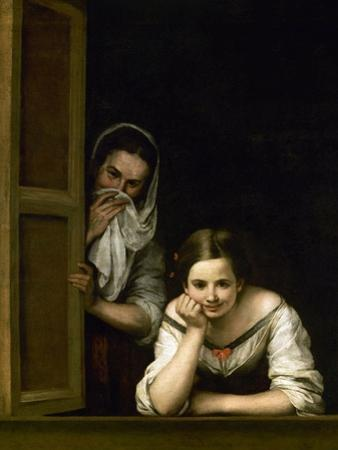 Women from Galicia at the Window, 1655-1660 by Bartolome Esteban Murillo