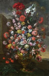 Lilies, Tulips, Carnations by Bartolomeo Bimbi