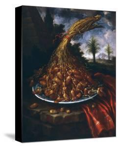 Still Life with Dates, Palatine Gallery, Florence by Bartolomeo Bimbi