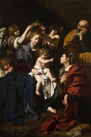 The Holy Family With Santa Catalina, 1617-1619, Italian School
