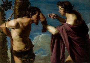 Apollo and Marsyas, 1616–20 by Bartolomeo Manfredi