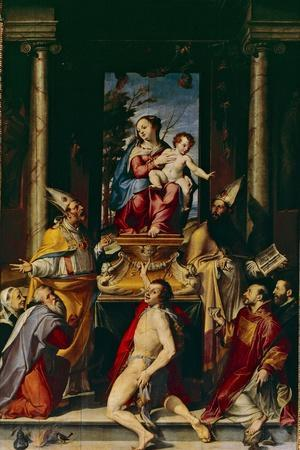 Madonna and Child Enthroned with Saint Anthony
