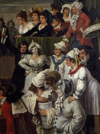 Pulcinella with Other Carnival Character, Detail, 1821