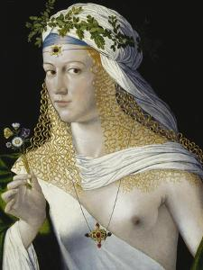 Idealized Portrait of a Courtesan as Flora, about 1520/25 by Bartolomeo Veneto