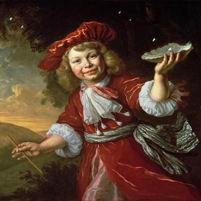Homo Bulla: a Boy Blowing Bubbles, C.1665