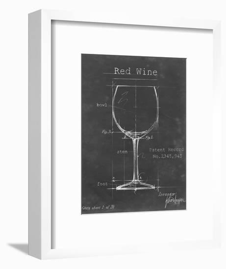 Barware Blueprint III-Ethan Harper-Framed Art Print