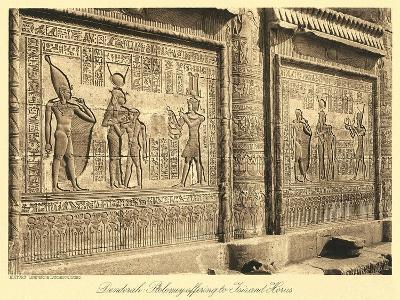 Bas Relief at Denderah Temple--Art Print