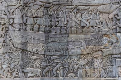 Bas relief carvings in prasat bayon angkor thom angkor siem