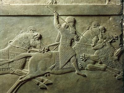 Bas-Relief Depicting Killing of Lion--Giclee Print