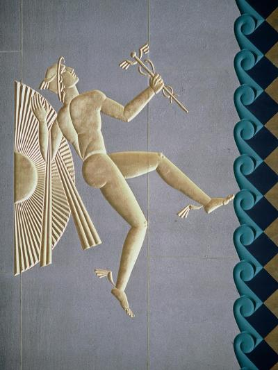Bas-Relief Depicting Mercury from the Exterior of One of the 14 Buildings, Built 1931-40--Giclee Print