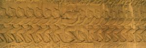 Bas Relief in a Temple, Angkor Wat, Angkor, Cambodia
