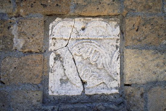 Bas-Relief in Walls of Cathedral in Civita Di Bagnoregio, Lazio, Italy--Giclee Print