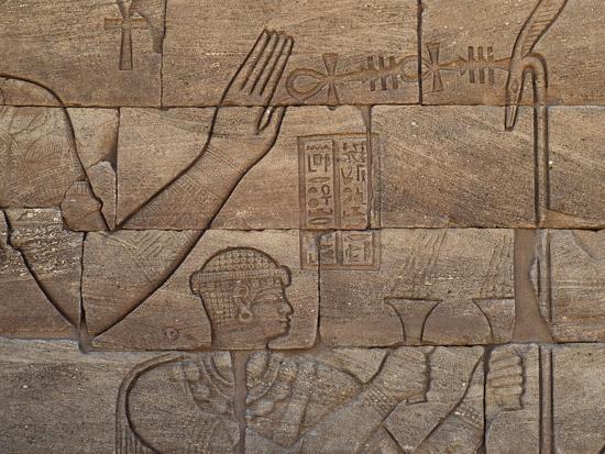 Bas-Relief, Lion Temple, Mussawwarat, Naga, Kingdom of Kush, Island of Meroe--Photographic Print