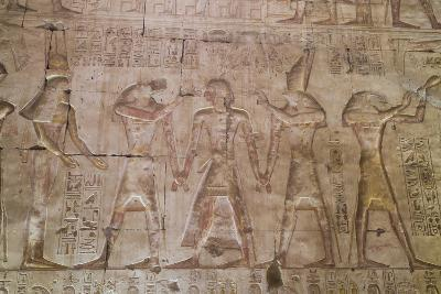 Bas-Relief of Pharaoh Seti I in Center with Egyptian Gods-Richard Maschmeyer-Photographic Print