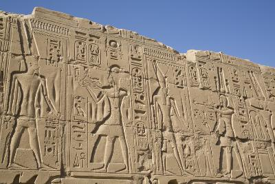 Bas-Relief of Pharaohs and Gods, Karnak Temple, Luxor, Thebes, Egypt, North Africa, Africa-Richard Maschmeyer-Photographic Print