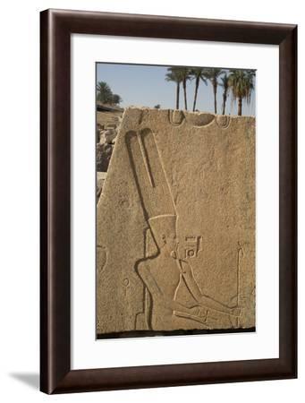 Bas-Relief of the God Amun, Karnak Temple, Luxor, Thebes, Egypt, North Africa, Africa-Richard Maschmeyer-Framed Photographic Print