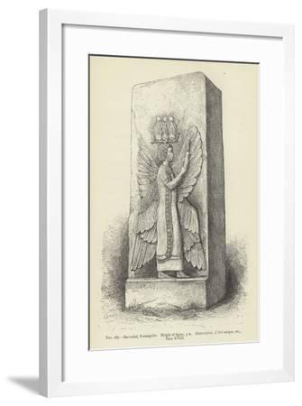 Bas-Relief, Parsargadae, Height of Figure, 3 M--Framed Giclee Print