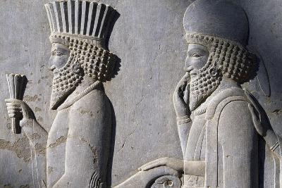 Bas-Relief Showing Persian Nobleman--Giclee Print