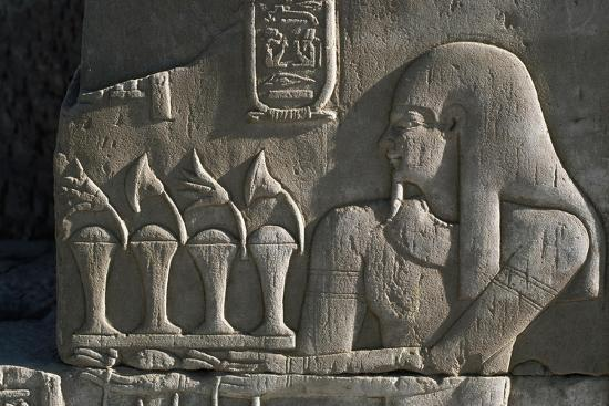 Bas-Relief, Temple of Sobek and Haroeris, Kom Ombo, Egypt--Giclee Print