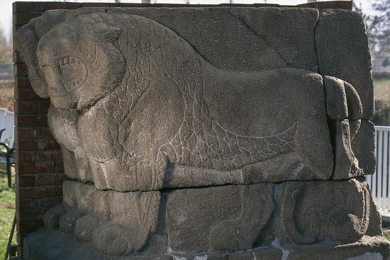 Bas-Relief with Lions from Kultepe (Kanesh)--Photographic Print