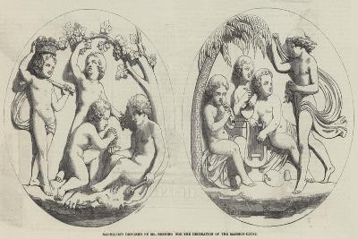 Bas-Reliefs Designed by Mr Henning for the Decoration of the Mansion-House--Giclee Print