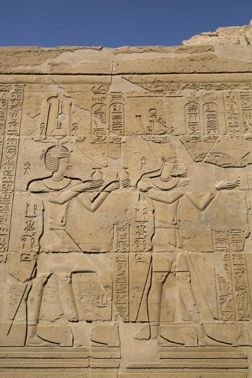 Bas-Reliefs on Walls, Temple of Haroeris and Sobek, Kom Ombo, Egypt, North Africa, Africa-Richard Maschmeyer-Photographic Print