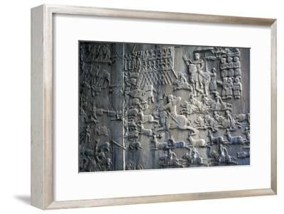 Bas-Reliefs with Scenes of Deer and Wild Boar Hunting in Caves of Taq-E Bustan, Iran--Framed Giclee Print