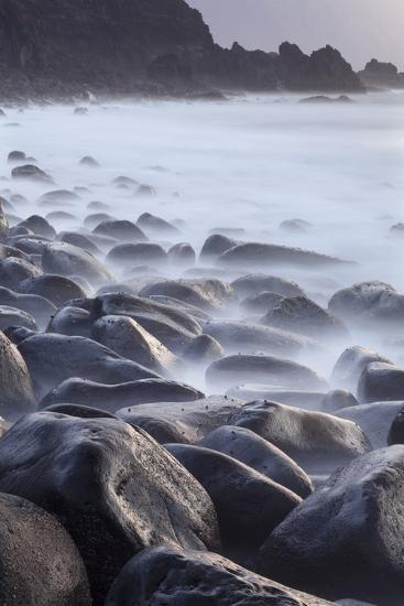 Basalt Boulders in the Ocean, El Golfo, El Hierro, Canary Islands, Spain-Markus Lange-Photographic Print