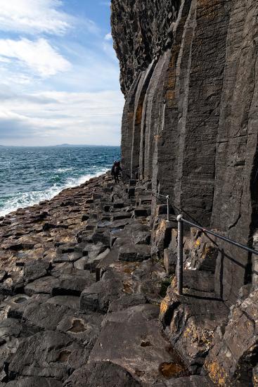 Basalt Columns by the Sea on the Isle of Staffa, Scotland-Spumador-Photographic Print