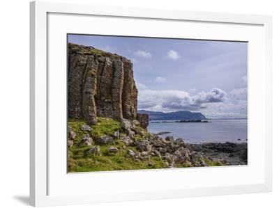 Basalt Columns, Rock Formation, Cliffs on Isle of Ulva-Gary Cook-Framed Photographic Print