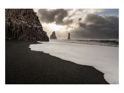 Basalt Rocks at Cape Dyrholaey near Vik i Myrdal, Myrdalur, Iceland--Art Print