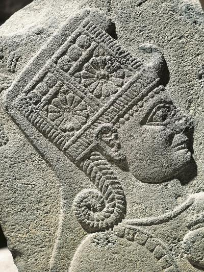 Basalt Slab with Relief Depicting Head of Young Prince, from Carchemish, Turkey--Giclee Print