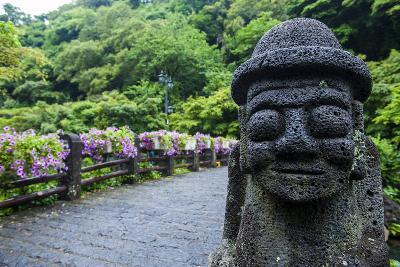 Basalt Statue in Seogwipo, Island of Jejudo, UNESCO World Heritage Site, South Korea, Asia-Michael-Photographic Print