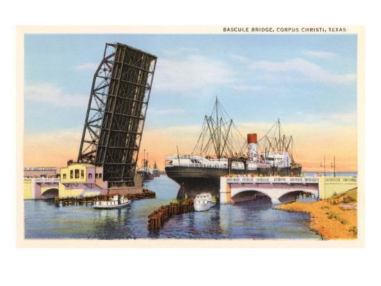 Bascule Bridge, Corpus Christi, Texas--Art Print