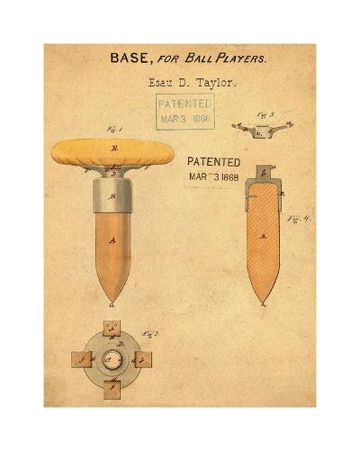 Base for Ball Player, 1868-Ant-Bill Cannon-Giclee Print