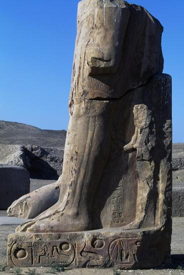 Base of Colossal Statue, Ruins of Great Temple of Amun, Tanis, Egypt--Giclee Print