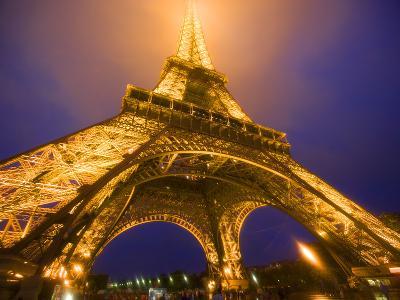 Base of Eiffel Tower at Night, Paris, France-Jim Zuckerman-Photographic Print