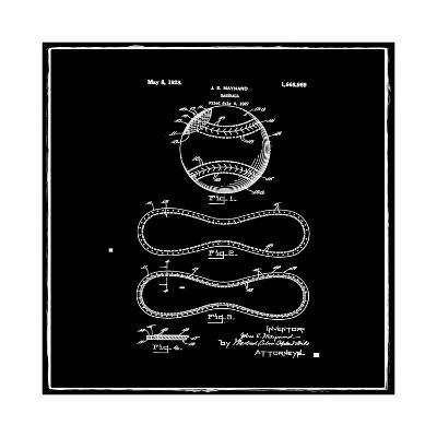 Baseball, 1927-Black-Bill Cannon-Giclee Print