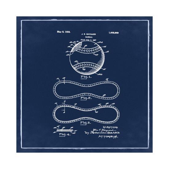 Baseball, 1927-Blue-Bill Cannon-Giclee Print