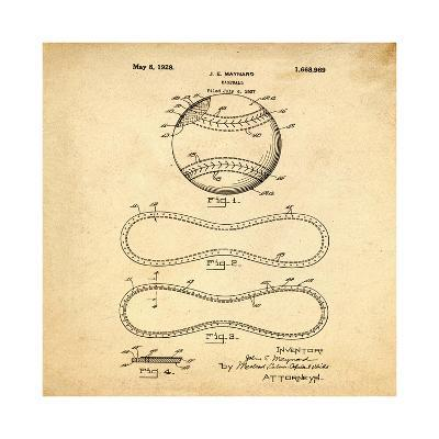Baseball, 1927-Bill Cannon-Giclee Print
