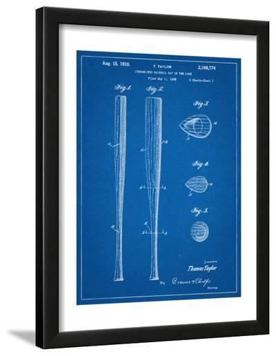 Baseball Bat Patent 1938--Framed Art Print