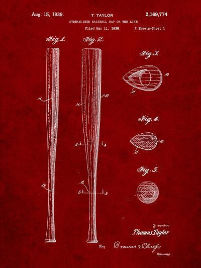Baseball Bat Patent 1938-Cole Borders-Art Print