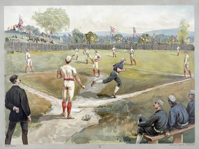 Baseball Game, 1888--Giclee Print