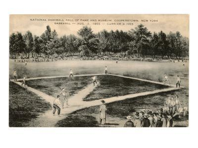 Baseball Game by Currier and Ives--Art Print