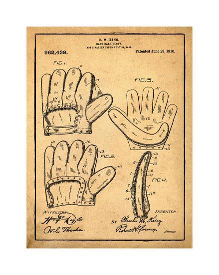 Baseball Glove, 1909-Antique I-Bill Cannon-Giclee Print